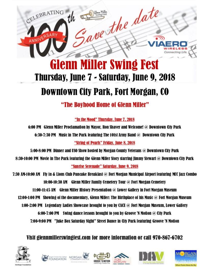 Glenn Miller Detailed Schedule Flyer May 23 2018 (2)